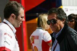 Stefano Domenicali, Scuderia Ferrari, Sporting Director and Giancarlo Minardi