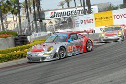 #44 Flying Lizard Motorsports Porsche 911 GT3 RSR: Patrick Long, Darren Law, #45 Flying Lizard Motor