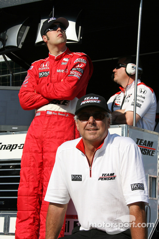 Sam Hornish Jr. et Rick Mears