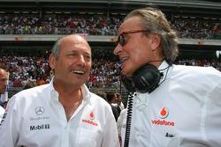 Ron Dennis, McLaren, Director, Presidente y Mansour Ojjeh