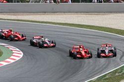 Start: Felipe Massa, Scuderia Ferrari, F2007, Fernando Alonso, McLaren Mercedes, MP4-22, Lewis Hamilton, McLaren Mercedes, MP4-22, Kimi Raikkonen, Scuderia Ferrari, F2007
