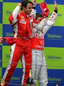 Podio: el ganador de la carrera, Felipe Massa,