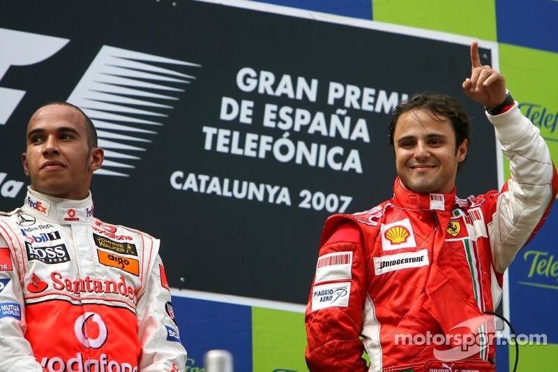 Podyum: Yarış galibi Felipe Massa ve Lewis Hamilton