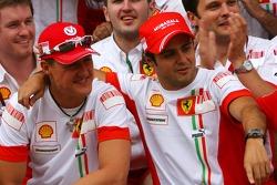 Victory celebrations at Ferrari: Michael Schumacher, Scuderia Ferrari, Advisor, Felipe Massa, Scuderia Ferrari