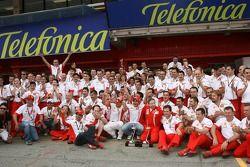 Victory celebrations, Ferrari: Michael Schumacher, Scuderia Ferrari, Advisor, Felipe Massa, Scuderia