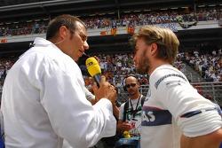 Kai Ebel, RTL TV et Nick Heidfeld, BMW Sauber F1 Team