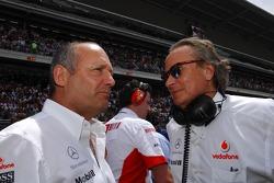 Ron Dennis, McLaren, et Mansour Ojeh, directeur commercial de TAG McLaren