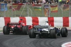 Robert Kubica, BMW Sauber F1, F1.07 double Kimi Raikkonen, Scuderia Ferrari, F2007 avant de s'arrête
