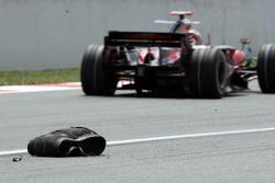 Une carcasse de pneu Bridgestone