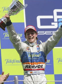 Javier Villa on the podium