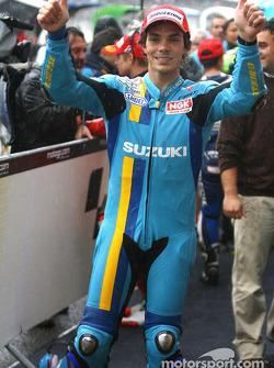 Ganador de la carrera celebra de Chris Vermeulen