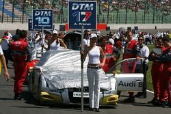 Voiture d'Alexandre Prémat, Audi Sport Team Phoenix, Audi A4 DTM, sur la grille