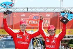 Podium: third place Daniel Sordo and Marc Marti, Citroen Total WRT, Citroen C4 WRC