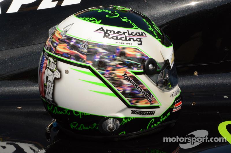 Der Indy-500-Helm von Townsend Bell