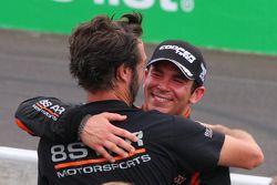 Sean Rayhall, 8 Star Motorsports merayakan finis di posisi kedua