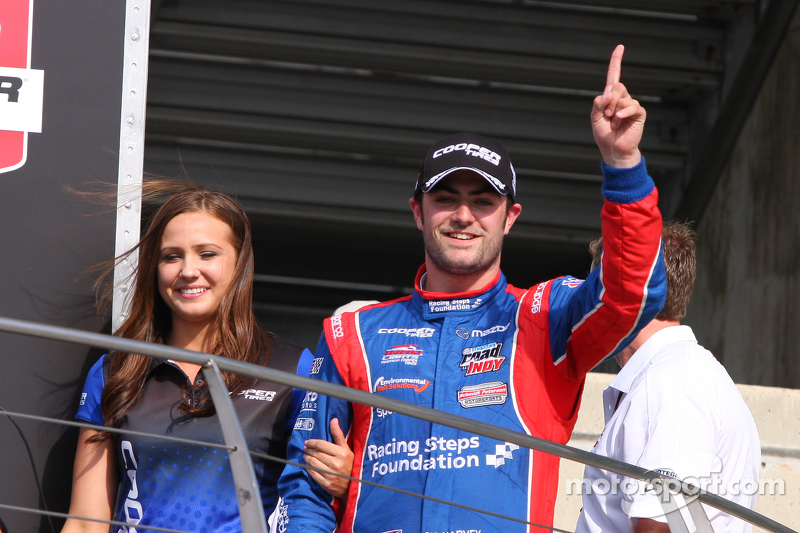 Podium: Race winner Jack Harvey, Schmidt Peterson Motorsports