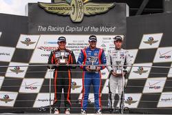 Podium: 1. Jack Harvey, Schmidt Peterson Motorsports, 2. Sean Rayhall, 8 Star Motorsports, und 3. Ed Jones, Carlin