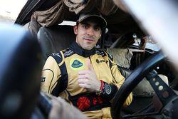 Pastor Maldonado, Lotus F1 Team, mit besonderem Overall, um den Film