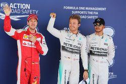 Себастьян Феттель, Ferrari, Нико Росберг и Льюис Хэмилтон, Mercedes AMG F1