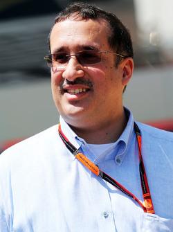 Sheikh Mohammed bin Essa Al Khalifa, director general del Accionista Junta de Desarrollo Económico de Bahrein y McLaren