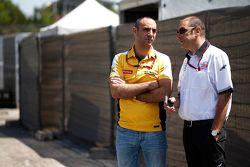 Bruno Michel with Cyril Abiteboul, Renault Sport F1