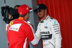 Lewis Hamilton, de Mercedes AMG F1 en parc ferme