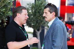 Zak Brown, Just Marketing International and Gunther Steiner, Haas F1 Team