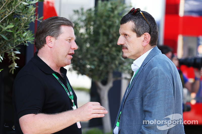 Zak Brown, Just Marketing International en Gunther Steiner, Haas F1 Team