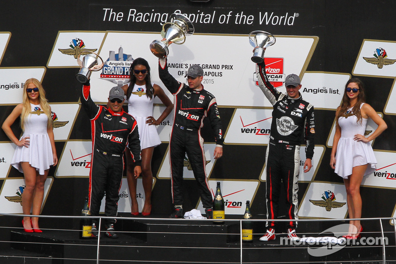 Podium: 1. Will Power, Team Penske, Chevrolet; 2. Graham Rahal, Rahal Letterman Lanigan Racing, und 3. Juan Pablo Montoya, Team Penske, Chevrolet