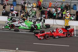 Sebastien Bourdais, KVSH Racing and Graham Rahal, Rahal Letterman Lanigan Racing
