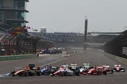 Rennstart: Sean Rayhall, 8 Star Motorsports, in Führung
