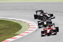Norman Nato, Arden International and Alex Lynn, DAMS and Stoffel Vandoorne, ART Grand Prix