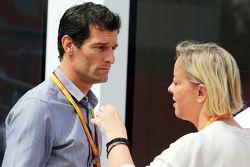 Mark Webber, Porsche Team pilota WEC Driver con Sabine Kehm, Manager di Michael Schumacher