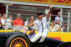 Lewis Hamilton, Mercedes AMG F1, bei der Fahrerparade