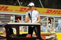 Nico Rosberg, Mercedes AMG F1, en el desfile de pilotos