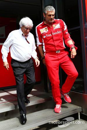 Берни Экклстоун и Маурицио Арривабене, Ferrari