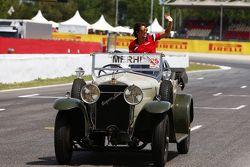 Roberto Merhi, Manor F1 Team en el desfile de pilotos
