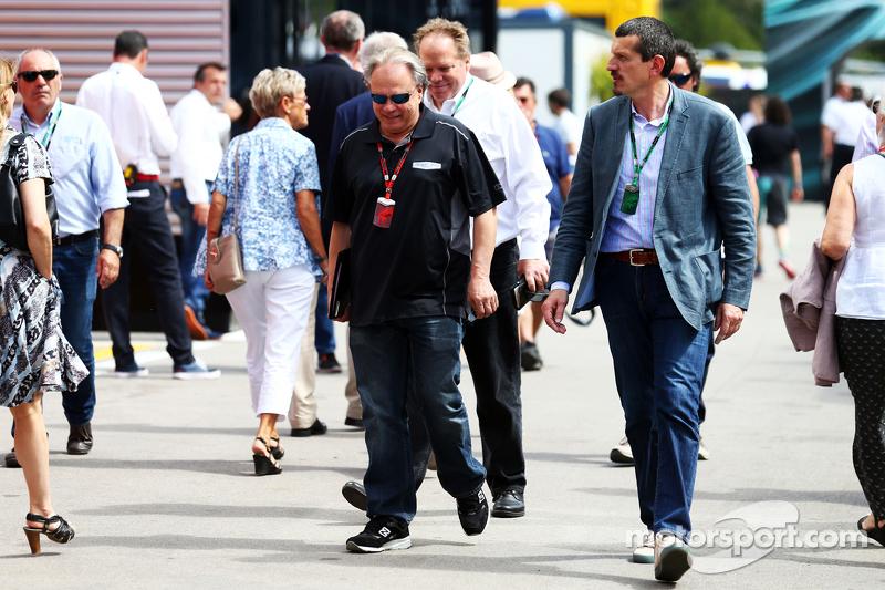 Gene Haas, Haas Otomasyon Başkanı ile Gunther Steiner, Haas F1 Takım Patronu