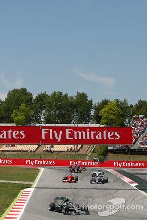 Nico Rosberg, Mercedes AMG F1 W06, in der Einführungsrunde
