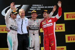 Льюис Хэмилтон, Mercedes AMG F1 Team и Нико Росберг, Mercedes AMG F1 Team и Себастьян Феттель, Scuderia Ferrari