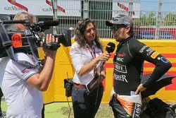 Sergio Pérez, Sahara Force India F1en la parrilla de salida