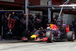 Даниэль Риккардо, Red Bull Racing во время пит-стопа