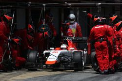 Уилл Стивенс, Manor F1 Team во время пит-стопа