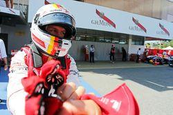 Sebastian Vettel, Ferrari celebra su tercer lugar