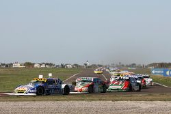 Mauricio Lambiris, Coiro Dole Racing Torino;Mariano Altuna, Altuna雪佛兰车队;和Jose Manuel Urcera, JP Racing Torino