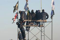Spectators up high