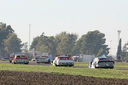Nicolas Bonelli, Bonelli Competicion, Ford; Juan Martin Trucco, JMT Motorsport, Dodge, und Martin Po