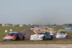 Guillermo Ortelli, JP Racing, Chevrolet; Leonel Sotro, Alifraco Sport, Ford, und Martin Serrano, Coi
