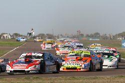 Matias Rossi, Donto 雪佛兰车队,和Jonatan Castellano, Castellano Power道奇车队,和Santiago Mangoni, Laboritto Jrs