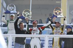 Podio: vincitore della gara Facundo Ardusso, secondo posto Agustin Canapino, terzo posto Omar Martin